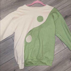 handmade ying yang sweater